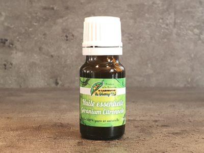 huile essentielle de géranium citronnelle bio