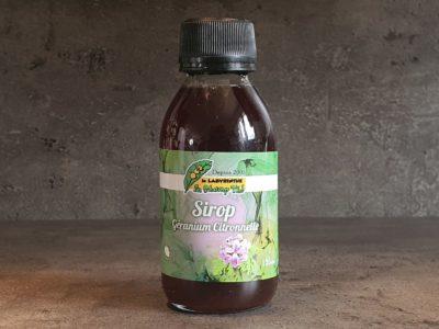 sirop de géranium citronnelle