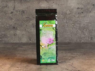 thé blanc au géranium rosat bio