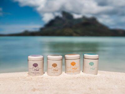 collection du sel de bora bora